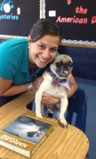 Me and my book buddy, Pugsley